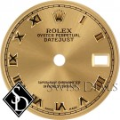 Ladies Rolex Datejust Champagne Roman Numeral Index Hour Markers Swiss Made Dial Two-tone