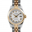 Ladies Rolex Datejust Steel and Gold White Roman Numeral Dial Smooth Bezel Jubilee Band New Style