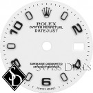 Ladies Rolex Datejust White Luminous Index Hour Markers and Arabic Numerals Swiss Made Dial Stainless Steel