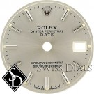 Ladies Rolex Date Silver Stick Marker T Swiss Made T Dial Stainless Steel