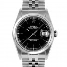 Men's  Rolex Datejust Stainless Steel Black Stick Dial Smooth Bezel Jubilee Band