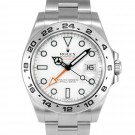Men's Rolex Explorer II Stainless Steel White Index Dial 24hr Bezel Oyster Band 42mm