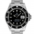 Men's Rolex Submariner Stainless Steel Black Index Dial Black 60min Bezel Oyster Band 2005 Papers