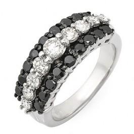 Black and White Diamond Ring