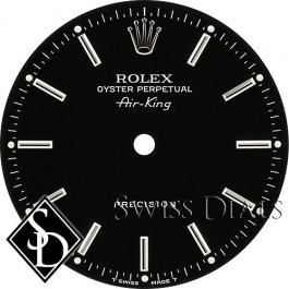 Men's Rolex Airking Black Stick Marker Dial SS