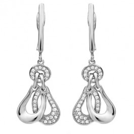 Dangling Sensation Silver Earrings