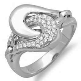 Outstanding Silver Cocktail Ring