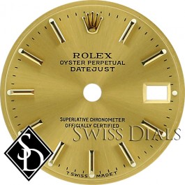 Ladies Rolex Datejust Champagne Stick Marker T Swiss Made T Dial Two-Tone