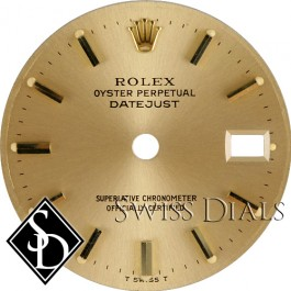 Ladies Rolex Champagne Stick Dial Two-tone