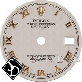Ladies Rolex Datejust Pyramid Roman Numeral Dial Two-Tone