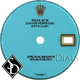 Ladies Rolex Datejust Turquoise T Swiss T Dial for Yellow Gold