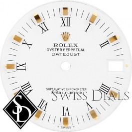 Ladies Rolex Datejust White Print Roman Numeral T Swiss T Dial Two-tone
