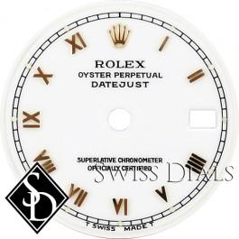 Ladies Rolex Datejust White San Serif Roman Numeral Dial Two-tone