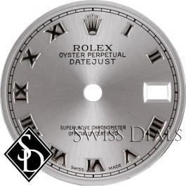 Ladies Rolex Rhodium Roman Numeral Dial SS