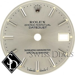 Ladies Rolex Datejust Silver Stick Marker T Swiss Made T Dial Two-Tone