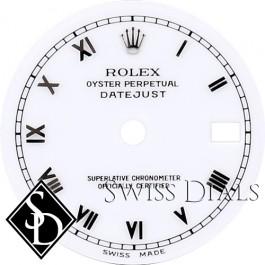 Ladies Rolex Datejust White San Serif Roman Numeral Dial SS