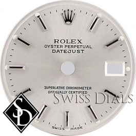 Ladies Rolex Datejust Silver Stick Marker Swiss Made Dial Stainless Steel