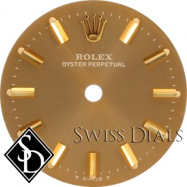 Ladies Rolex Oyster Perpetual Champagne Stick Marker T Swiss T Dial Two-Tone