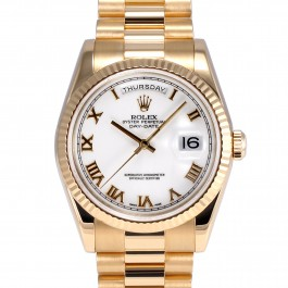 Rolex Day-Date President - 18k Yellow Gold Watch