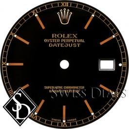 Men's Rolex Datejust Black Stick Marker Swiss Made Dial Two-tone