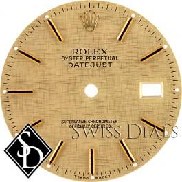 Men's Rolex Datejust Champagne Linen Stick Marker Dial Two-Tone