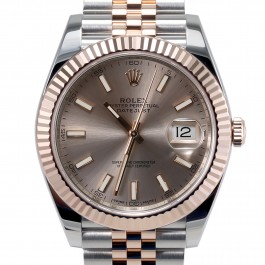 Mens Rolex Datejust II Steel and Gold Sundust Stick Dial Fluted Bezel Jubilee Band