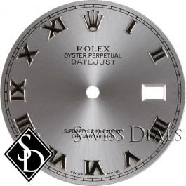 Men's Rolex Rhodium Roman Numeral Dial SS
