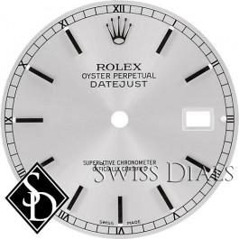 Men's Rolex Datejust Silver Stick Marker Swiss Made Dial SS