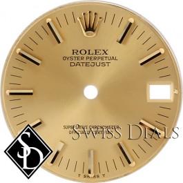 Midsize Rolex Datejust Champagne Stick Marker Dial T Swiss T Two-tone