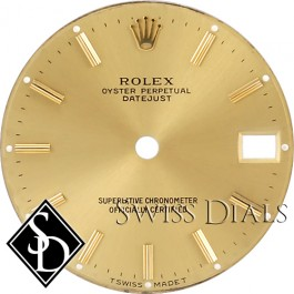 Midsize Rolex Champagne Stick Marker Dial Two-tone