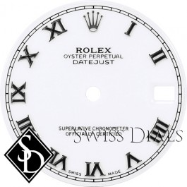Midsize Rolex Roman Numeral Swiss Made Dial SS