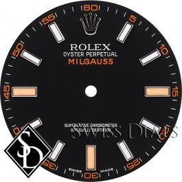 Men's Rolex Milgauss Black Index Luminous Dial SS