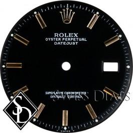 Men's Rolex Datejust Non-quick Black Stick Dial Two-tone