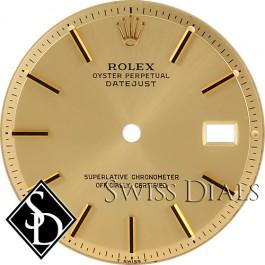 Men's Rolex Datejust Non-quick Champagne Stick Marker Dial Two-tone