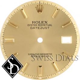 Men's Rolex Datejust Non-quick Champagne Stick Hour Marker Dial Two-tone