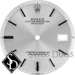 Men's Rolex Datejust Non-quick Silver Stick Marker Dial Stainless Steel