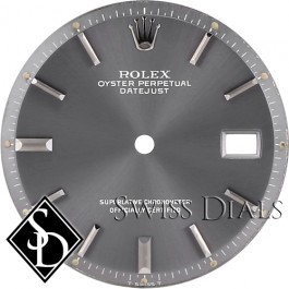 Men's Rolex Datejust Non-quick Slate Stick Marker Dial Stainless Steel