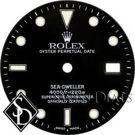 Men's Rolex Sea-Dweller Black Index Marker Swiss Made Dial SS