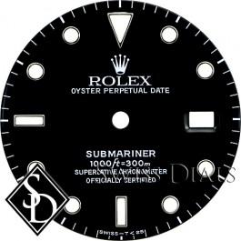 Men's Rolex Submariner Black Index Marker Dial SS