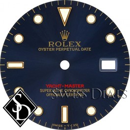 Men's Rolex Yacht-Master Blue Index Marker Dial Two-Tone