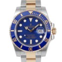 Men's Rolex Submariner Steel and Gold Blue Dial Ceramic Blue 60min Bezel Oyster Band New Style