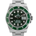 Men's Rolex Submariner Stainless Steel Green Dial Ceramic Green 60min Bezel Oyster Band New Style