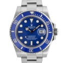 Men's Rolex Submariner White Gold Blue Dial Ceramic Blue 60min Bezel Oyster Band 116619