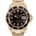 Men's Rolex Submariner Yellow Gold Black Dial Black 60min Bezel Oyster Band