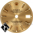 Ladies Rolex Datejust Champagne Stick T Swiss Made T Dial Two-Tone