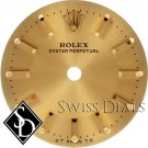Ladies Rolex Oyster Perpetual Champagne Stick Marker O T SWISS T O Dial Two-Tone