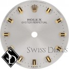 Ladies Rolex Oyster Perpetual Silver Stick Marker T Swiss T Dial Two-Tone