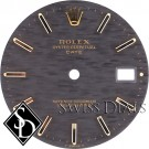 Men's Rolex Date Blue Stick Marker T Swiss T Dial Two-Tone
