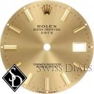 Men's Rolex Date Champagne Stick Marker Dial Two-Tone