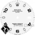 Men's Rolex Date White Luminous Index Hour Markers and Arabic Numerals Swiss Made Dial SS